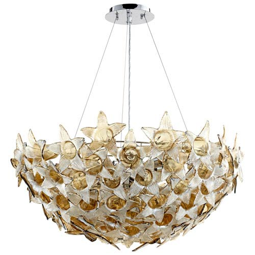 Moon Lillie Cognac Ten-Light Pendant