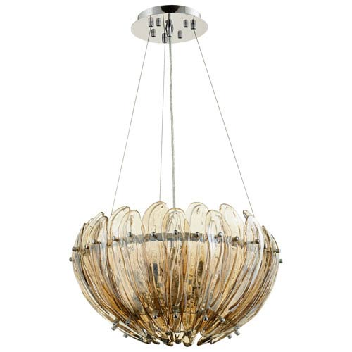 Aerie Cognac Five-Light Pendant