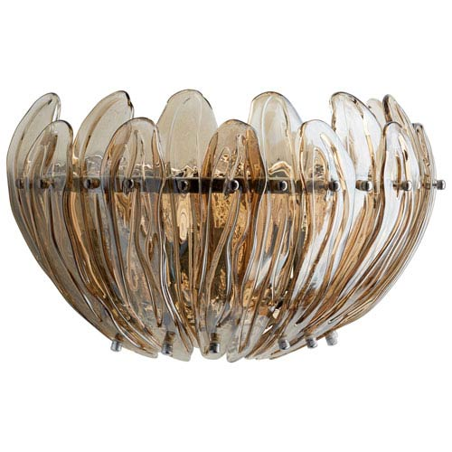 Aerie Chrome Three-Light Wall Sconce