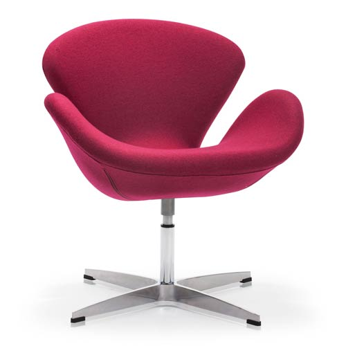 Zuo Modern Contemporary Pori Red and Steel Frame Accent Chair