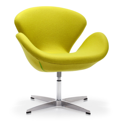 Pori Green and Steel Frame Accent Chair