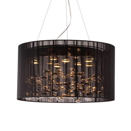 Zuo Modern Contemporary Symmetry Black Eight Light Pendant
