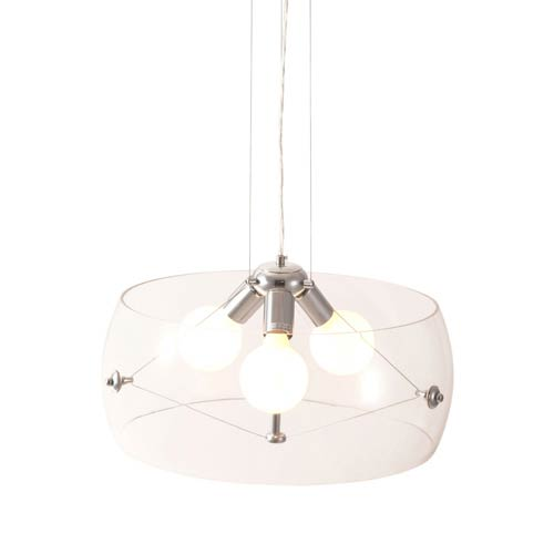 Zuo Modern Contemporary Asteroids Clear Three Light Pendant