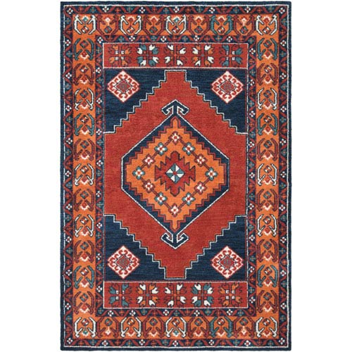 Arabia Ayda Orange Rectangular: 9 Ft. x 12 Ft. Rug