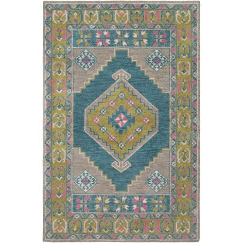 Arabia Ayda Gray Rectangular: 7 Ft. 6 In. x 9 Ft. 6 In. Rug