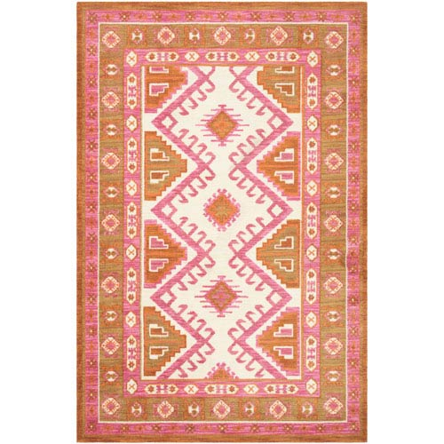 Arabia Nadine Pink Rectangular: 2 Ft. x 3 Ft. Rug