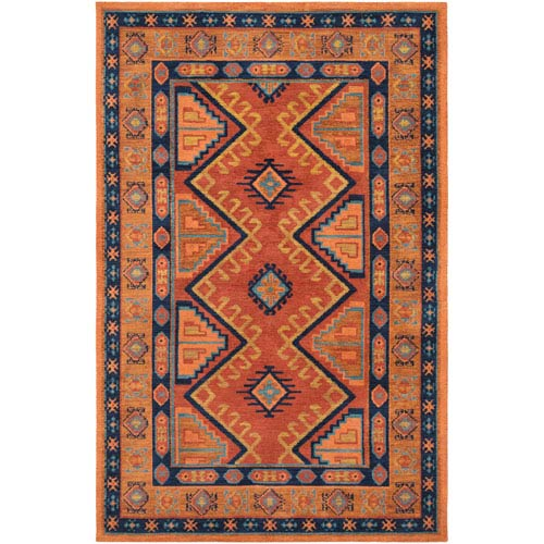 Arabia Nadine Orange Rectangular: 2 Ft. x 3 Ft. Rug