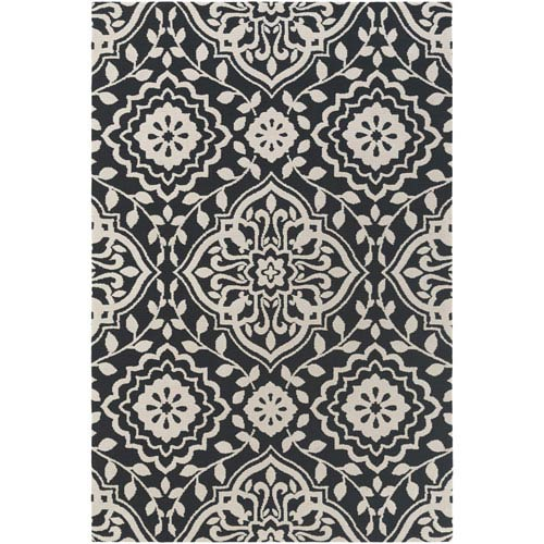 Artistic Weavers Annette Ruby Black and Ivory Rectangular: 2 Ft. x 3 Ft. Rug