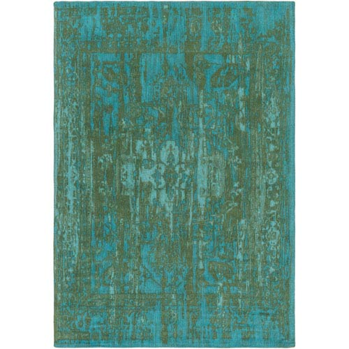 Elegant Maya Green and Teal Rectangular: 2 Ft. x 3 Ft. Area Rug