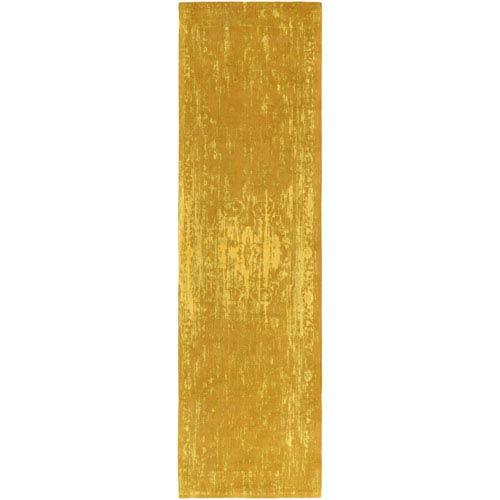 Elegant Maya Gold Runner: 2 Ft. 3-Inch x 12 Ft.