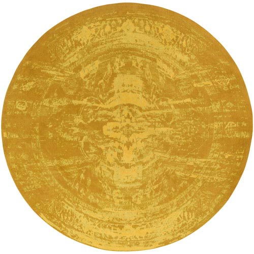 Elegant Maya Gold Round: 6 Ft. Round Rug