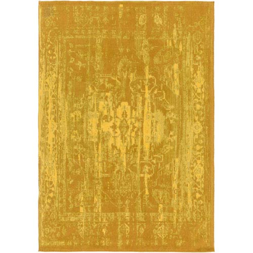 Elegant Maya Gold Rectangular: 8 Ft. x 10 Ft. Area Rug