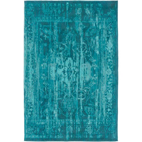 Elegant Maya Teal Rectangular: 2 Ft. x 3 Ft. Area Rug