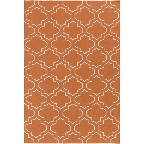 York Sara Orange and Ivory Rectangular: 3 Ft x 5 Ft Rug