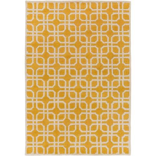 Artistic Weavers Transit Madison Yellow Rectangular: 2 Ft. x 3 Ft. Rug