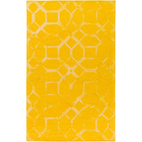 Organic Brittany Sunflower Rectangular: 5 Ft. x 8 Ft. Area Rug