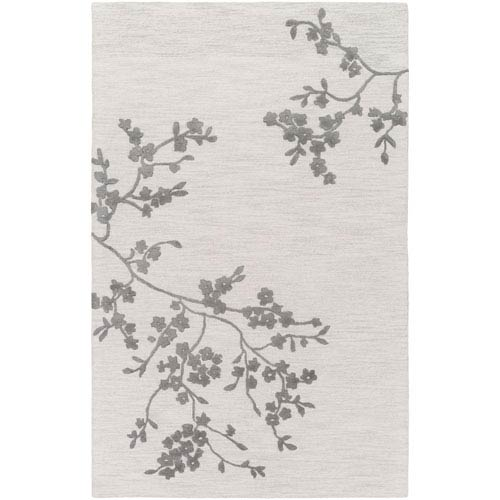 Alexander Smith Light Gray and Charcoal Rectangular: 8 Ft. x 10 Ft. Rug