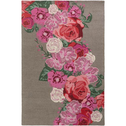 Artistic Weavers Botany Emilia Multicolor Pink Rectangular: 4 Ft. x 6 Ft. Rug