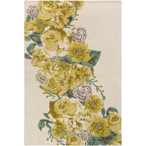 Artistic Weavers Botany Emilia Yellow Rectangular: 4 Ft. x 6 Ft. Rug