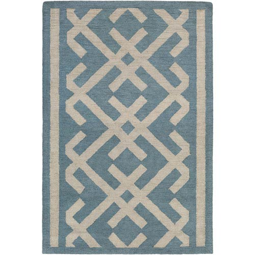 Artistic Weavers Congo Lynnie Blue and Beige Rectangular: 2 Ft. x 3 Ft. Rug