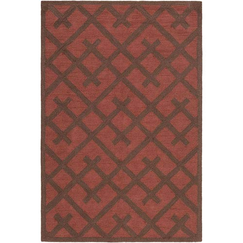 Congo Adrienne Red and Brown Runner: 2 Ft. 3-Inch x 8 Ft.