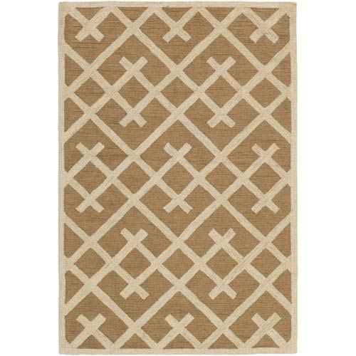 Artistic Weavers Congo Adrienne Taupe and Beige Rectangular: 2 Ft. x 3 Ft. Rug