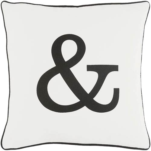 Artistic Weavers Glyph Ampersand 18-Inch Pillow Cover and Poly Insert