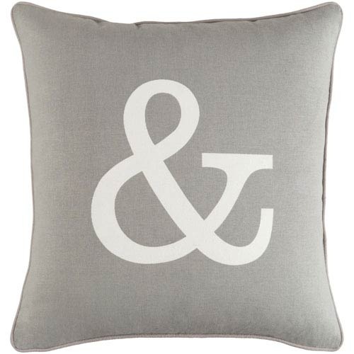 Artistic Weavers Glyph Ampersand 18-Inch Pillow Cover and Down Insert