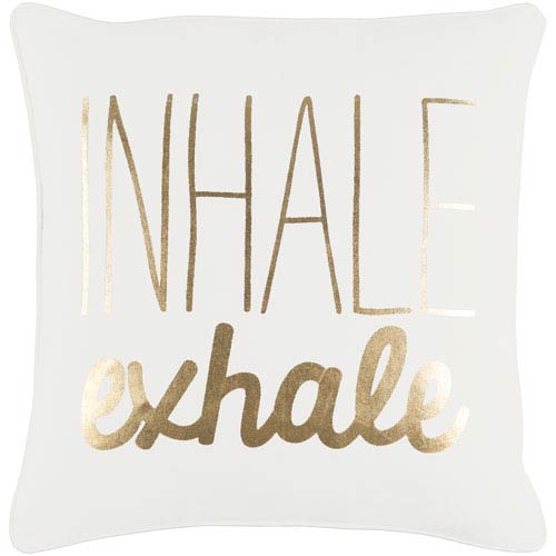 Artistic Weavers Glyph Inhale/Exhale 18-Inch Pillow Cover and Poly Insert