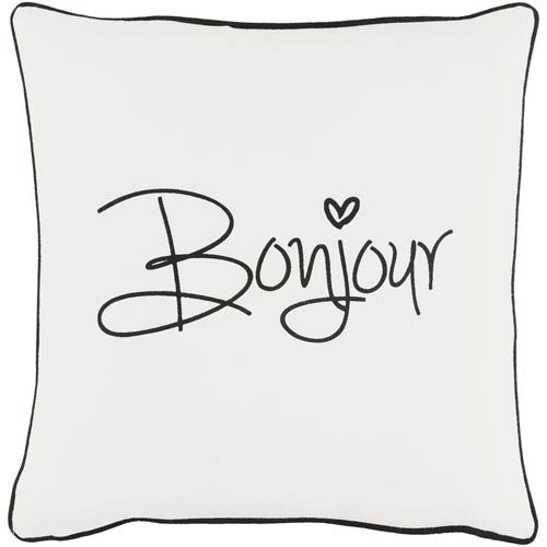 Artistic Weavers Glyph Bonjour 18-Inch Pillow Cover and Poly Insert