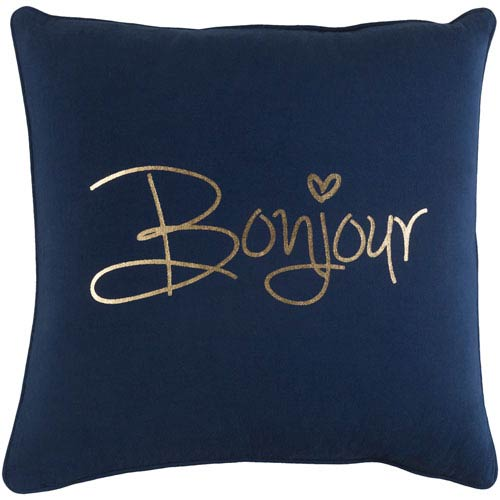 Artistic Weavers Glyph Bonjour 18-Inch Pillow Cover and Down Insert
