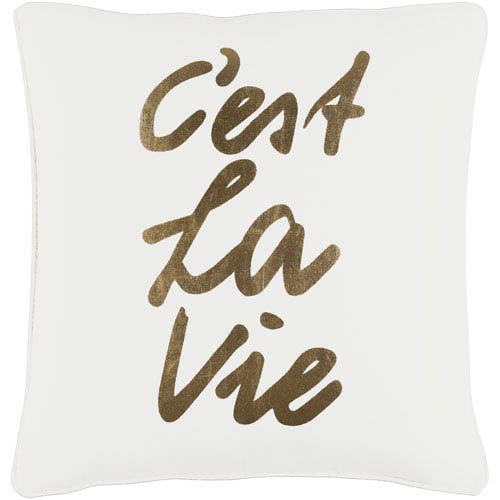 Glyph C est La Vie 18-Inch Pillow Cover and Down Insert