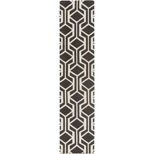 Hilda Gisele Black and White Runner: 2 Ft. 3-Inch x 10 Ft.