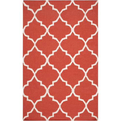 York Mallory Coral and White Rectangular: 2 Ft x 3 Ft Rug
