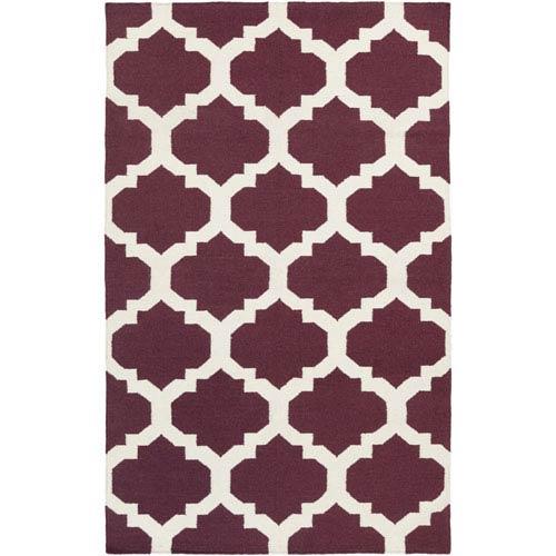 York Harlow Purple and White Rectangular: 2 Ft x 3 Ft Rug