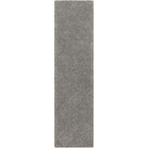 Hermitage Cooper Charcoal and Gray Runner: 2 Ft. x 8 Ft.
