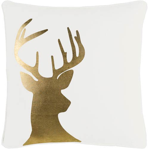 Holiday Deer 18-Inch Pillow Cover and Down Insert