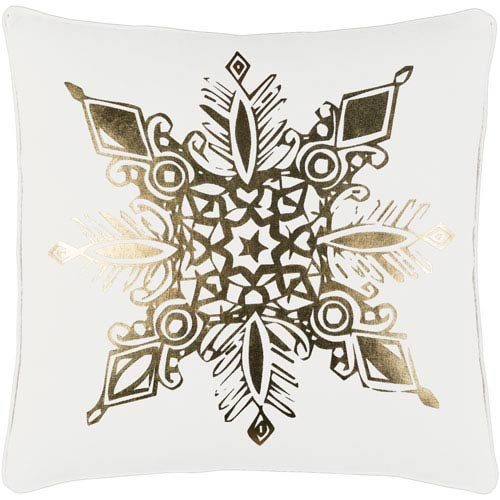 Holiday Snowflake 18-Inch Pillow Cover and Down Insert