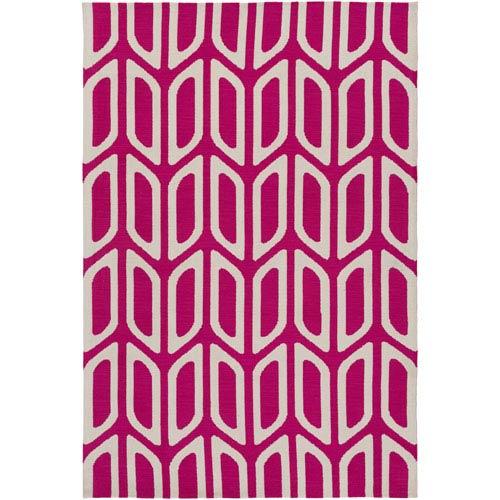 Joan Wellesley Hot Pink Rectangular: 7 Ft. 6-Inch x 9 Ft. 6-Inch Area Rug