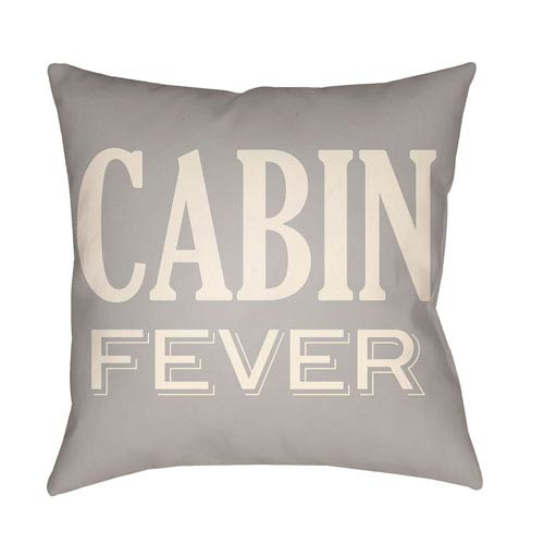 Artistic Weavers Lodge Cabin Cabin Fever Light Gray and Beige 22 x 22 In. Pillow with Poly Fill