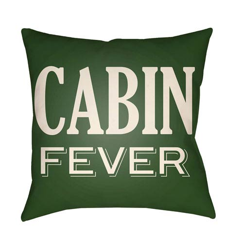 Artistic Weavers Lodge Cabin Cabin Fever Forest Green and Beige 22 x 22 In. Pillow with Poly Fill