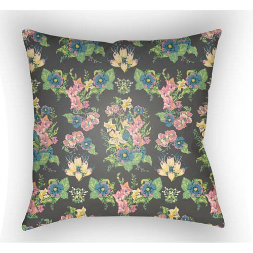 Artistic Weavers Lolita Lola Carnation Pink and Denim Blue 16 x 16 In. Pillow with Poly Fill