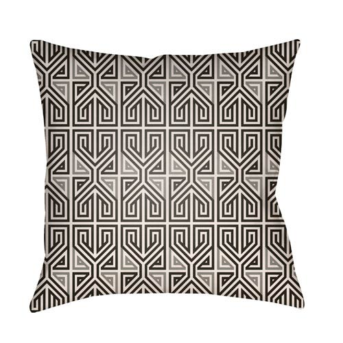 Artistic Weavers Lolita Poppy Onyx Black and Light Gray 20 x 20 In. Pillow with Poly Fill