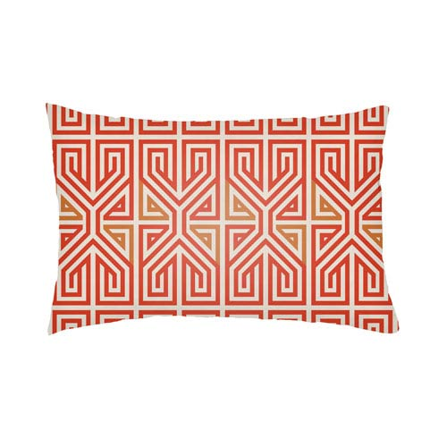 Artistic Weavers Lolita Poppy Poppy Red and Tangerine 26 x 26 In. Pillow with Poly Fill
