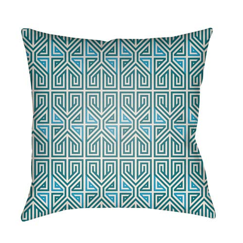 Artistic Weavers Lolita Poppy Teal and Aqua 14 x 24 In. Pillow with Poly Fill