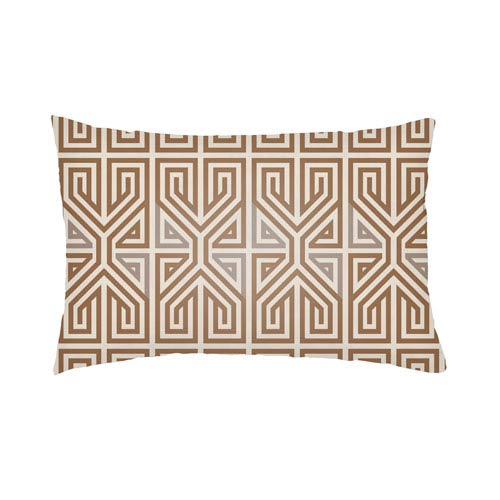 Lolita Poppy Nutmeg and Taupe 26 x 26 In. Pillow with Poly Fill