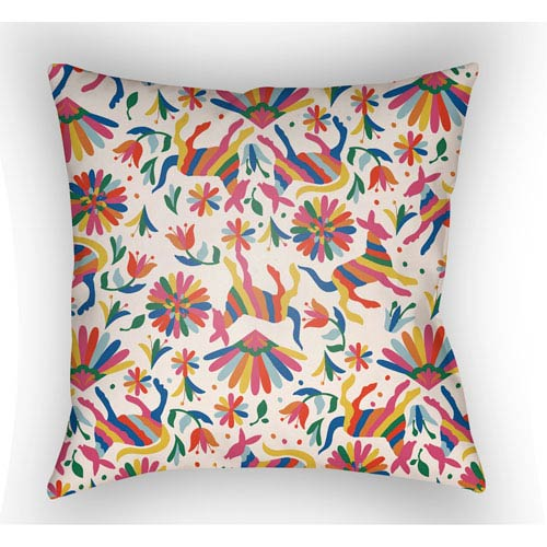 Artistic Weavers Lolita Pablo Multicolor 18 x 18 In. Pillow with Poly Fill