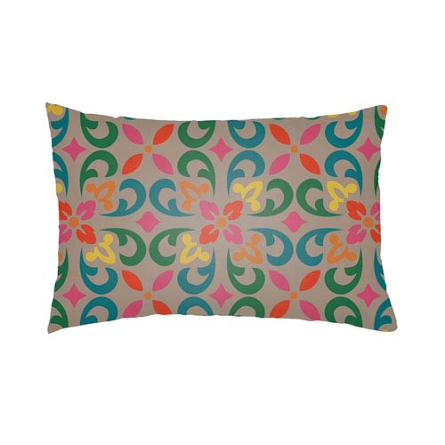 Artistic Weavers Lolita Angel Teal and Kelly Green 14 x 24 In. Pillow with Poly Fill