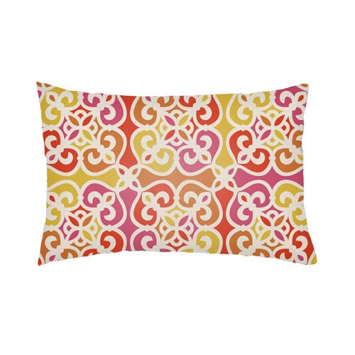 Artistic Weavers Lolita Juliana Hot Pink and Poppy Red 26 x 26 In. Pillow with Poly Fill