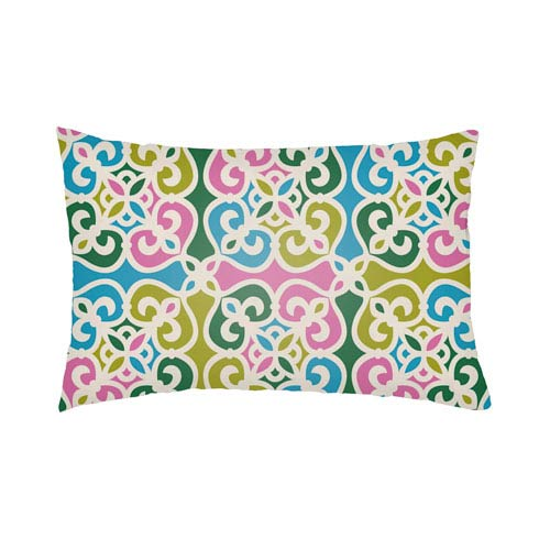 Artistic Weavers Lolita Garland Fuchsia and Aqua 26 x 26 In. Pillow with Poly Fill